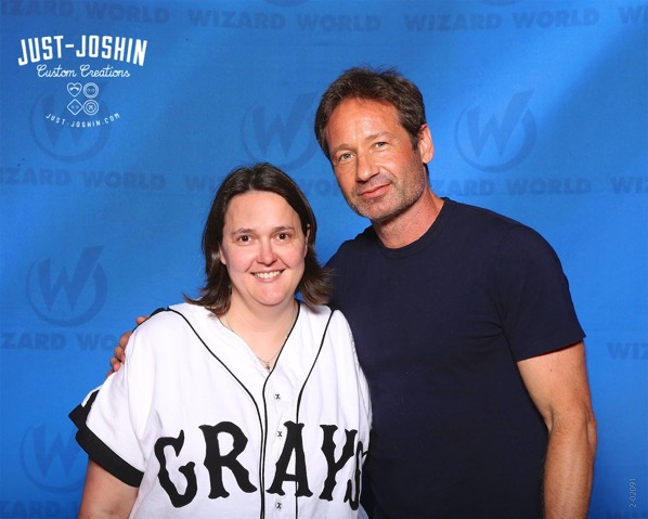 Jen and David Duchovny